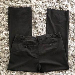 Norma Kamali Pants - NORMA KAMALI Black Trousers Pants Flat Front